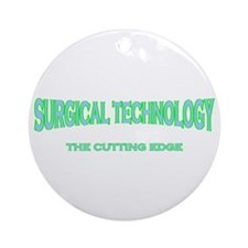 Surgical Technology - green/b Ornament (Round)
