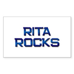 rita rocks Rectangle Decal