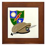 Army Ranger Beret Dagger Framed Tile