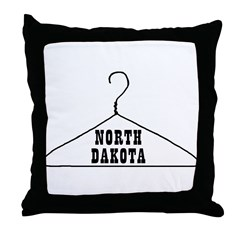 North Dakota Pro-Choice Throw Pillow