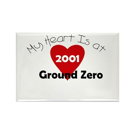 My Heart is at Ground Zero Rectangle Magnet
