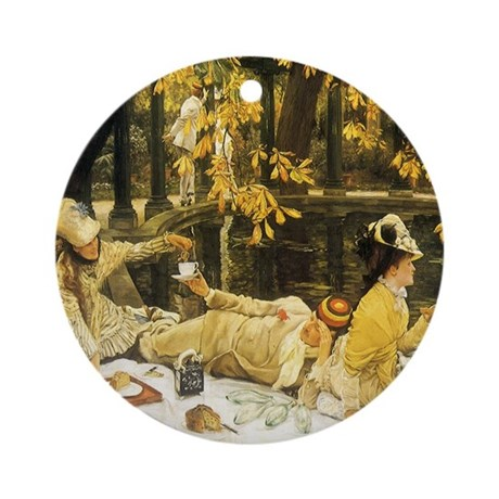 Holyday (The Picnic) by Tissot Ornament (Round) by ...