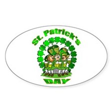 St. Patrick's day Irish Pub Oval Sticker (10 pk)