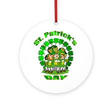 St. Patrick's day Irish Pub Ornament (Round)