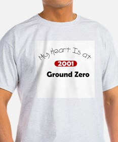 My Heart Is at Ground Zero Ash Grey T-Shirt