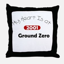 My Heart Is at Ground Zero Throw Pillow