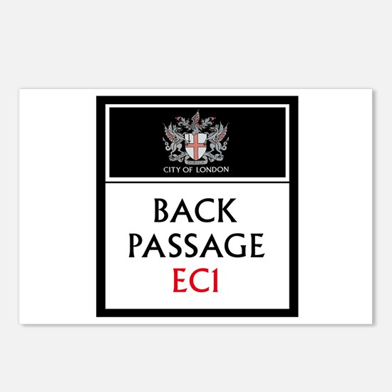 Back Passage, London Postcards (Package of 8)