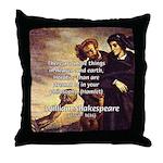 Tragedy of Hamlet Throw Pillow