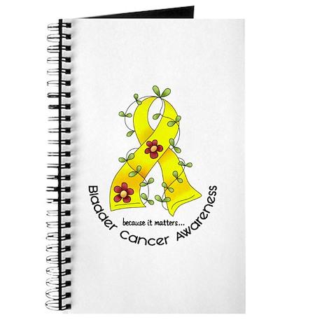 Flower Ribbon BLADDER CANCER Journal