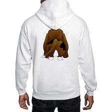 Big Nose/Butt Basset Hoodie