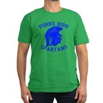 Forks High Spartans Men's Fitted T-Shirt (dark)