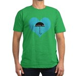Rainy Forks, WA Men's Fitted T-Shirt (dark)