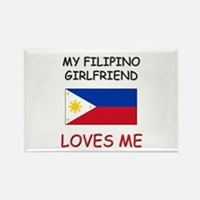My Filipino Girlfriend Loves Me Rectangle Magnet