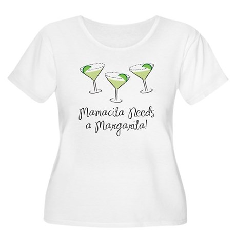 Mamacita Margarita Women's Plus Size Scoop Neck T-