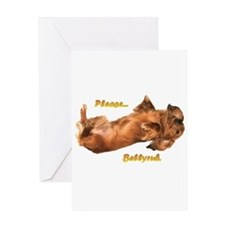 Bellyrub Doxie Greeting Card