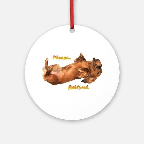 Bellyrub Doxie Ornament (Round)