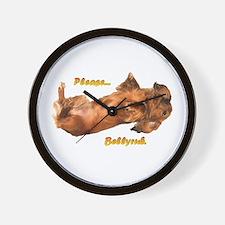 Bellyrub Doxie Wall Clock