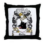 Griis Coat of Arms Throw Pillow