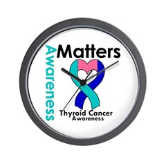 Thyroid Cancer Matters Wall Clock