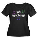 Got Symphony Women's Plus Size Scoop Neck Dark T-S