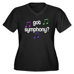 Got Symphony Women's Plus Size V-Neck Dark T-Shirt