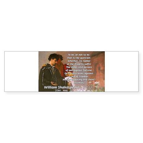 Hamlet Famous Soliloquy Bumper Sticker