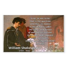Hamlet Famous Soliloquy Rectangle Decal