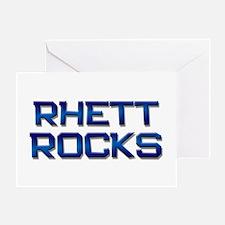 rhett rocks Greeting Card
