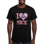 I Love (Heart) Mice Men's Fitted T-Shirt (dark)
