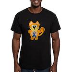Blue Awareness Ribbon Goofkin Men's Fitted T-Shirt