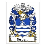 Groen Coat of Arms Small Poster