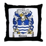 Groen Coat of Arms Throw Pillow