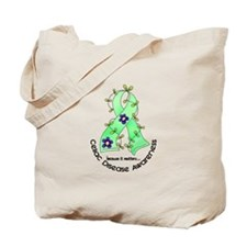 Flower Ribbon CELIAC DISEASE Tote Bag