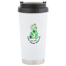 Flower Ribbon CELIAC DISEASE Travel Mug