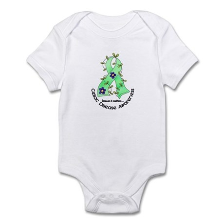 Flower Ribbon CELIAC DISEASE Infant Bodysuit
