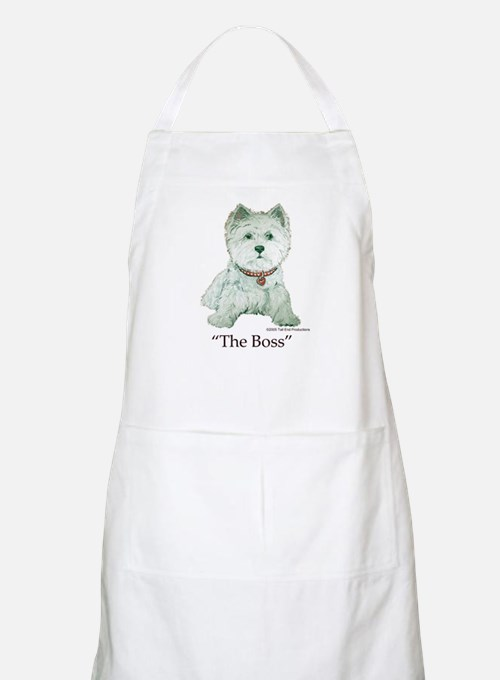 """""""The Boss"""" Westhighland White Terrier BBQ Apron"""