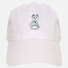 """""""The Boss"""" Westhighland White Terrier Baseball Baseball Cap"""