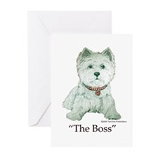 """""""The Boss"""" Westhighland White Terrier Greeting Car"""