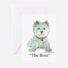 """The Boss"" Westhighland White Terrier Greeting Car"