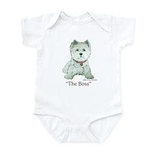 """The Boss"" Westhighland White Terrier Infant Bodys"
