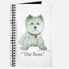 """The Boss"" Westhighland White Terrier Journal"