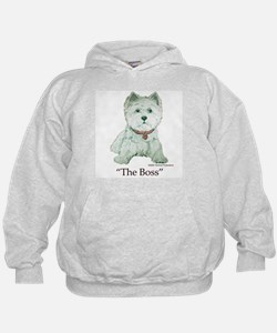 """The Boss"" Westhighland White Terrier Hoodie"