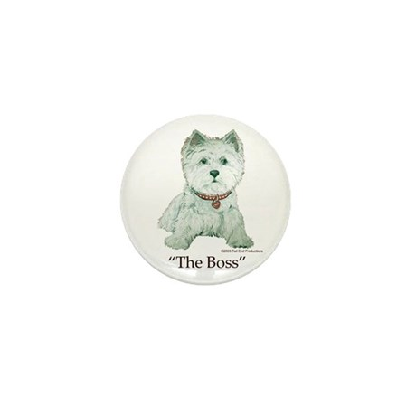 """The Boss"" Westhighland White Terrier Mini Button"