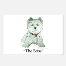 """The Boss"" Westhighland White Terrier Postcards (P"