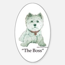 """The Boss"" Westhighland White Terrier Decal"
