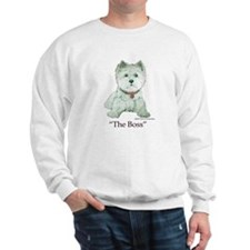 """The Boss"" Westhighland White Terrier Sweatshirt"