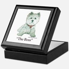 """The Boss"" Westhighland White Terrier Keepsake Box"