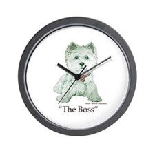 """The Boss"" Westhighland White Terrier Wall Clock"