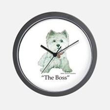 """""""The Boss"""" Westhighland White Terrier Wall Clock"""