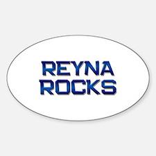 reyna rocks Oval Decal